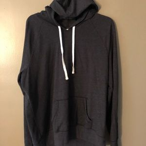 Tops - Grey hooded shirt